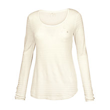Buy Fat Face Pointelle Top, Fresh Snow Online at johnlewis.com