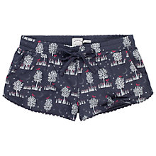 Buy Fat Face Linear Woodland Jersey Short, Twilight Online at johnlewis.com