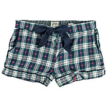 Buy Fat Face Heart Check Jacquard Pyjama Shorts, Twilight Online at johnlewis.com