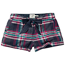 Buy Fat Face Linear Check Pyjama Shorts, Twilight Online at johnlewis.com