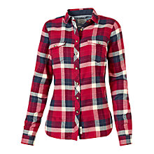 Buy Fat Face Jacquard Check Shirt, Rosewood Online at johnlewis.com