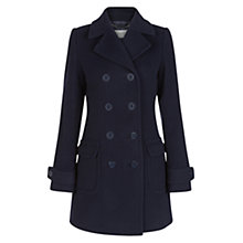 Buy Hobbs Tabatha Coat, Navy Online at johnlewis.com