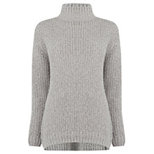 Buy Warehouse Tweedy Sparkle Jumper, Silver Online at johnlewis.com
