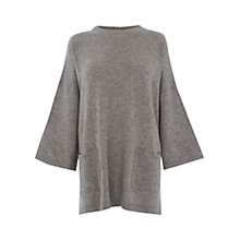 Buy Warehouse Cashmere Boxy Jumper, Grey Online at johnlewis.com