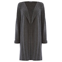 Buy Warehouse Cashmere Cardigan, Dark Grey Online at johnlewis.com