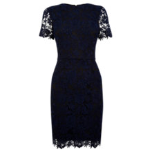 Buy Warehouse All Over Lace Dress, Navy Online at johnlewis.com