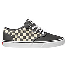 Buy Vans Atwood Canvas Lace-Up Trainers, Grey Check Online at johnlewis.com