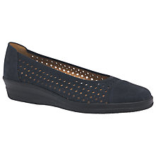 Buy Gabor Heart Wide Perforated Pumps, Night Blue Online at johnlewis.com