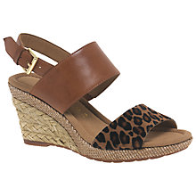Buy Gabor Anna Wide Fitting Mid Height Wedge Sandals Online at johnlewis.com