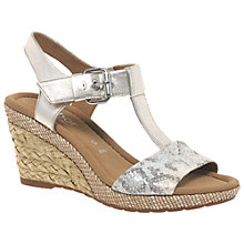 Buy Gabor Karen Wide Wedged Heeled Sandals Online at johnlewis.com
