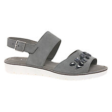 Buy Gabor Hoshi Double Strap Sandals, Grey Online at johnlewis.com