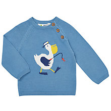 Buy John Lewis Baby Pelican Jumper, Blue Online at johnlewis.com
