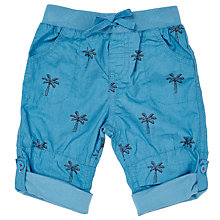 Buy John Lewis Baby Palm Tree Roll-Up Trousers, Blue Online at johnlewis.com