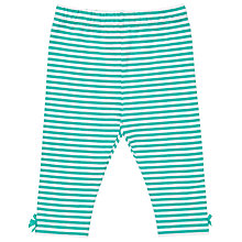 Buy John Lewis Baby Stripe Leggings, Green/White Online at johnlewis.com