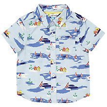 Buy John Lewis Baby Hawaiian Shirt, Blue Online at johnlewis.com