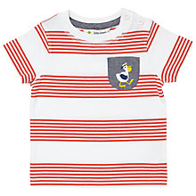 Buy John Lewis Baby Stripe Pelican T-Shirt, Red Online at johnlewis.com