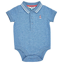 Buy John Lewis Baby Boat Polo Shirt Bodysuit, Blue Online at johnlewis.com