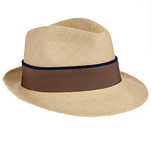 Buy Christys' Hoxton Trilby Panama Hat, Natural Online at johnlewis.com