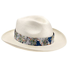 Buy Christys' Exclusive Liberty Print Panama Hat, Cream Online at johnlewis.com