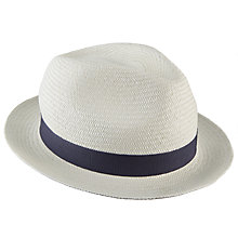 Buy Christys' Witney Snap Brim Panama Hat, Cream Online at johnlewis.com