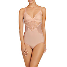 Buy Stella McCartney Meg Alluring Lace Panel Bodysuit, Ballet Pink Online at johnlewis.com