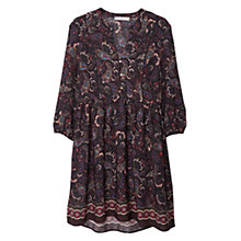 Buy Mango Floral Print Dress, Black/Multi Online at johnlewis.com