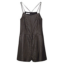 Buy Mango Striped Jumpsuit, Black Online at johnlewis.com