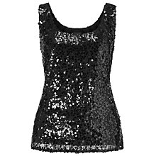 Buy Ariella Tess Beaded Top, Black Online at johnlewis.com
