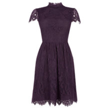 Buy Oasis Gothic Lace Dress, Dark Purple Online at johnlewis.com