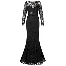 Buy Ariella Dakota Lace Evening Gown, Black Online at johnlewis.com