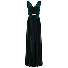 Buy Ariella Milo Velvet Maxi Dress, Green Online at johnlewis.com