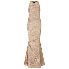 Buy Ariella Anastasia Lace Evening Gown, Gold Online at johnlewis.com