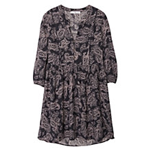 Buy Mango Floral Print Dress, Medium Blue Online at johnlewis.com
