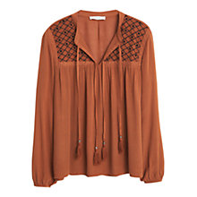 Buy Mango Embroidered Cord Blouse Online at johnlewis.com