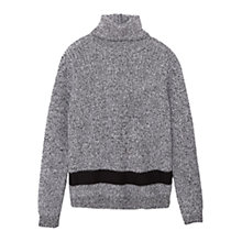 Buy Mango Flecked Roll Neck Jumper, Light Pastel Grey Online at johnlewis.com