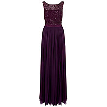 Buy Ariella Cynthia Beaded Dress, Plum Online at johnlewis.com