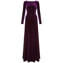 Buy Ariella Rafaella Velvet Long Dress, Grape Online at johnlewis.com