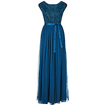 Buy Ariella Greta Embellished Top Long Dress, Teal Online at johnlewis.com