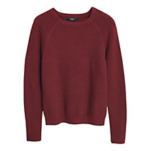 Buy Mango Ribbed Cotton Jumper Online at johnlewis.com