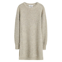 Buy Mango Flecked Sweater, Medium Brown Online at johnlewis.com
