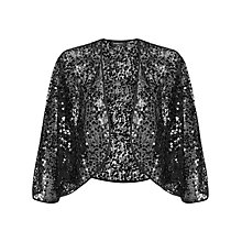 Buy Ariella Kali Sequin Bolero, Black Online at johnlewis.com