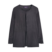 Buy Mango Laser Cut Detail Jacket, Charcoal Online at johnlewis.com