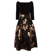 Buy Coast Chloey Metallic Jacquard Dress, Black Online at johnlewis.com