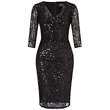 Buy Ariella Theresa Short Sequin Dress, Black Online at johnlewis.com