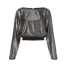 Buy Ariella Tia Sequin Top, Gunmetal Online at johnlewis.com