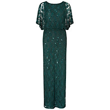 Buy Ariella Ophelia Lace Beaded Cape Dress, Green Online at johnlewis.com