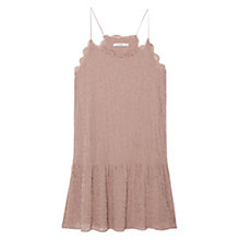 Buy Mango Embroidery Bead Dress, Light Pastel Pink Online at johnlewis.com