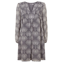 Buy Mint Velvet Olivia Print Smock Dress, Grey/Multi Online at johnlewis.com