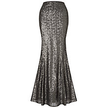 Buy Ariella Viola Sequin Skirt, Gunmetal Online at johnlewis.com