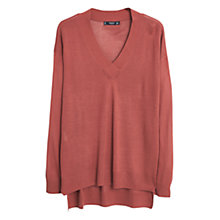 Buy Mango Fine-Knit V-Neck Jumper Online at johnlewis.com